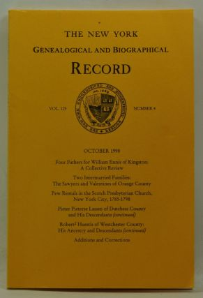 The New York Genealogical and Biographical Record, Volume 129, Number 4 (October 1998). Harry Jr....