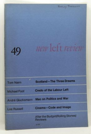 New Left Review 49 (May-June 1968). Perry Anderson, Tom Nairn, Michael Foot, André...