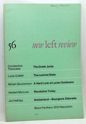 New Left Review 56 (July-August 1969). Perry Anderson, Cosntantine Tsoucalas, Lucio Colletti,...