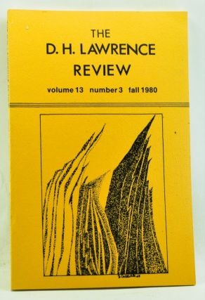 The D. H. Lawrence Review, Volume 13, Number 3 (Fall 1980). Psychoanalysis and Existence. James...