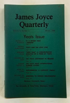 James Joyce Quarterly, Volume 3, Number 2 (Winter 1966). Yeats Issue. Thomas F. Staley, Russell...