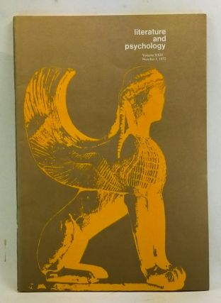Literature and Psychology, Volume 22, Number 4 (1972). Morton Kaplan, LeRoy W. Smith, M. D....