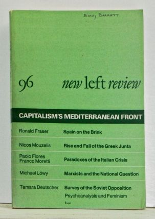 New Left Review Number 96 (March-April 1976). Perry Anderson, Ronald Fraser, Paolo Flores...