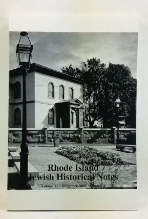 Rhode Island Jewish Historical Notes, Volume 13, Number 2 (November 2000). Leonard Moss, Max...