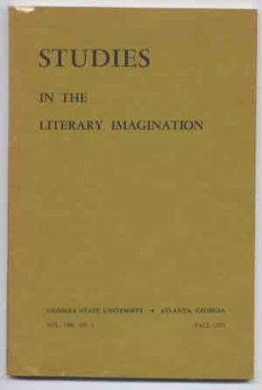 Studies in the Literary Imagination, Vol. VIII (8 Eight) Number 2, Fall 1975: Victorian Prose. Paul G. Blount, Charlotte W. Rhodes, John Holloway, J. Hillis Miller, David J. DeLaura, Norman Friedman, John Hazard Wildman, Benjamin Dunlap, C. L. Cline, Joseph O. Baylen.
