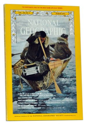 The National Geographic Magazine, Volume 143 (CXLIII), No. 3 (March 1973). With map of the...