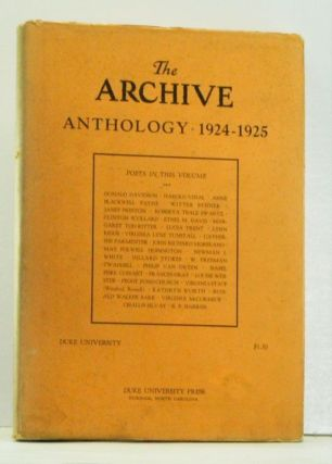 The Archive Anthology: Verse by Little-Known and Well-Known Writers. R. P. Harriss, Jay B....