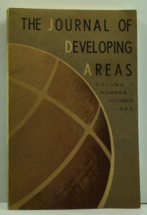The Journal of Developing Areas, Volume I, Number I (1), October 1966. Spencer H. Brown