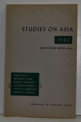 Studies on Asia 1962. Sidney Devere Brown