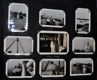 Photograph Album, 1936-1939. Queen Mary Ocean Liner, London, Paris