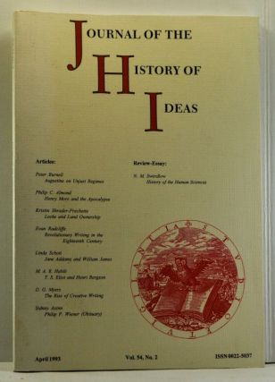 Journal of the History of Ideas, Volume 54, Number 2 (April 1993). Donald R. Kelley, Peter...