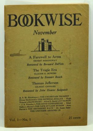 Bookwise, Volume 1, Number 1 (November 1929). Ralph S. Bailey