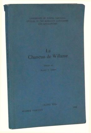 La Chancun de Willame. Nancy V. Iseley.