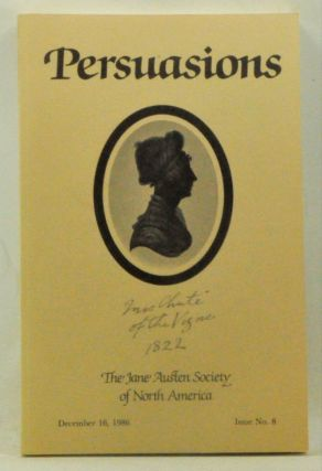 Persuasions: The Jane Austen Society of America. December 16, 1986, Issue No. 8. Jane Austen-Leigh