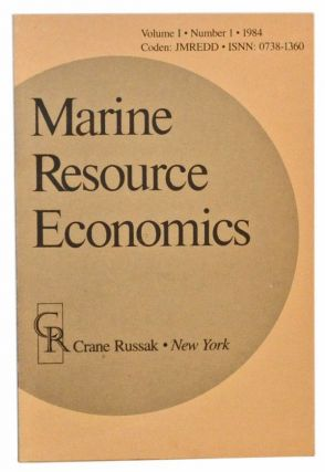 Marine Resource Economics, Volume 1, Number 1 (1984). Jon G. Sutinen, M. P. Sissenwine, J. M....