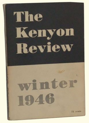 The Kenyon Review, Vol. 8, No. 1 (Winter 1946). John Crowe Ransom, Jean Charlot, M. P. Hutchins, Parker Tyler, Eric Bentley, Cleanth Brooks, John Berryman, William Van O'Connor, William Carlos Williams, Others.