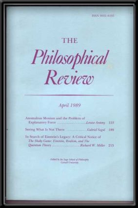 The Philosophical Review, Vol. XCVIII, No. 2 (April 1989). Helen Taylor-Way, Louise Antony,...
