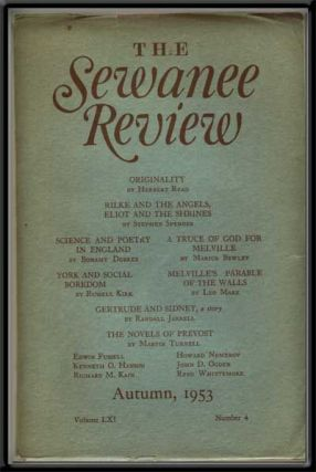 The Sewanee Review, Autumn 1953: Volume 61, Number 4. Monroe K. Spears, Herbert Read, Bonamy...