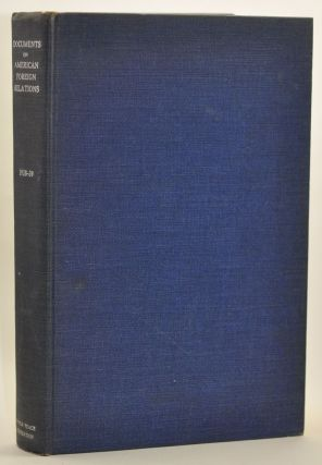 Documents on American Foreign Relations, January 1938-June 1939. S. Shepard Jones, Denys P. Myers
