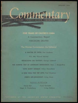 Commentary: Vol. 37, No. 1 (January 1964). Norman Podhoretz, Theodore Draper, Don Jacobson,...