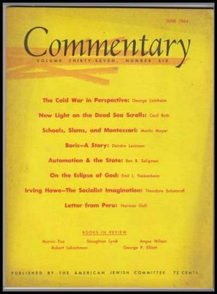 Commentary: Vol. 37, No. 6 (June 1964). Norman Podhoretz, George Lichtheim, Cecil Roth, Martin...