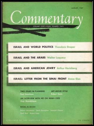 Commentary: Vol. 44, No. 2 (August 1967). Norman Podhoretz, Theodore Draper, Walter Laqueur,...