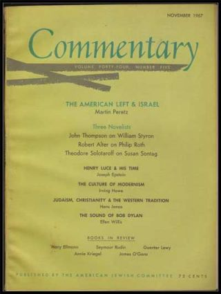 Commentary: Vol. 44, No. 5 (November 1967). Norman Podhoretz, Martin Peretz, John Thompson,...