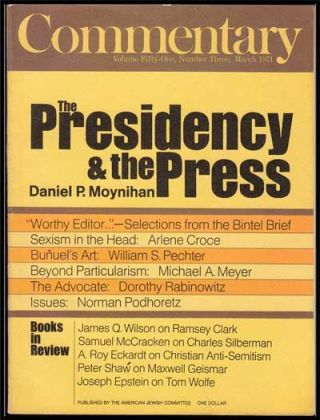 Commentary: Vol. 51, No. 3 (March, 1971). Norman Podhoretz, Daniel P. Moynihan, Arlene Croce,...